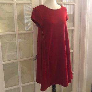 Nina Leonard Red Dress Size Medium
